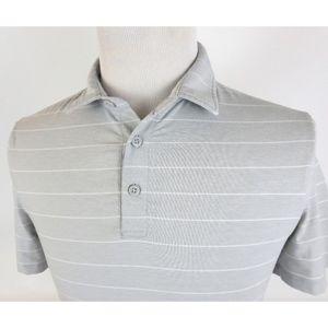 Lululemon Small Evolution Polo Shirt Striped S/S